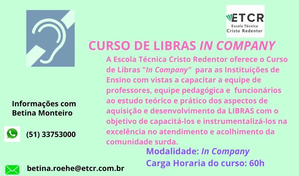 CURSO DE LIBRAS IN COMPANY
